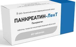 Панкреатин-лект – инструкция по применению таблеток, отзывы, цена