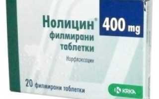 Нолицин – инструкция по применению таблеток, аналоги, отзывы, цена