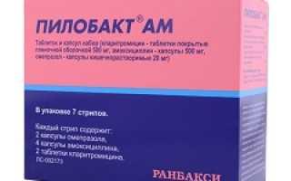 Пилобакт ам – инструкция по применению, отзывы, цена, аналоги