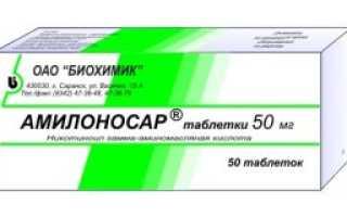 Амилоносар – инструкция по применению, цена, отзывы, аналоги таблеток