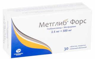 Метглиб форс – инструкция по применению, цена, аналоги таблеток, отзывы
